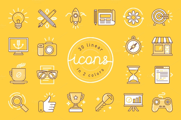 Linear Marketing Icons