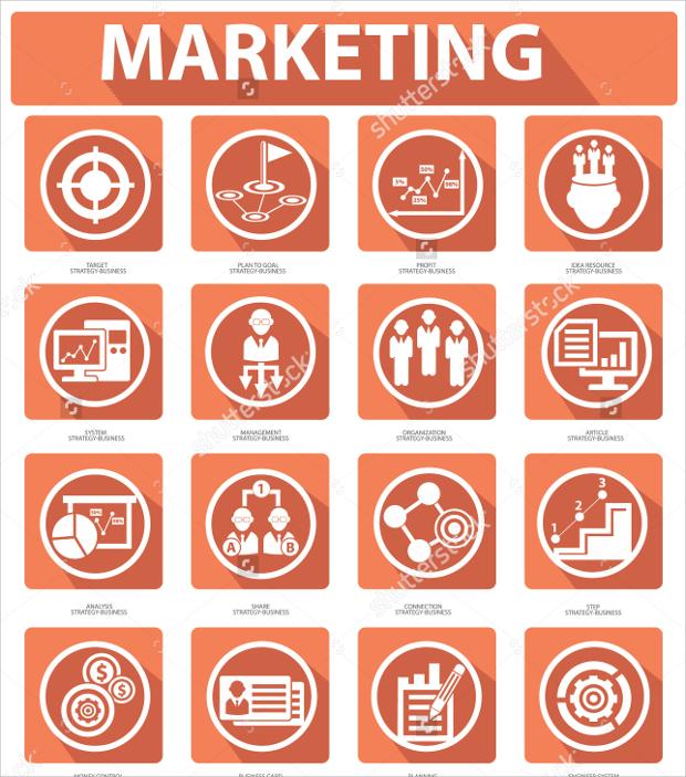 flat marketing icons