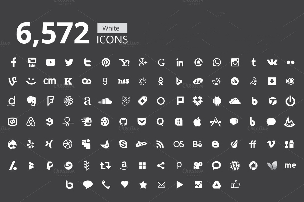black and white marketing icons