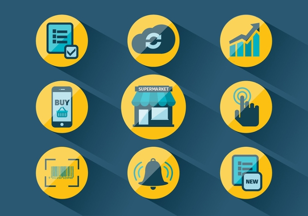 market related vector icons