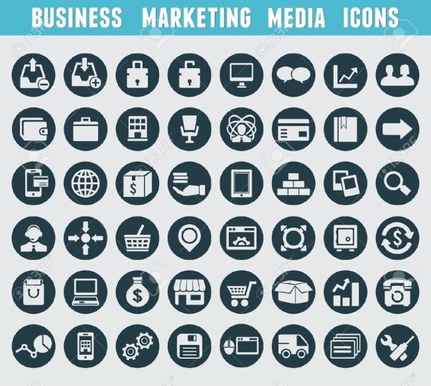 Business Marketing Media Icons