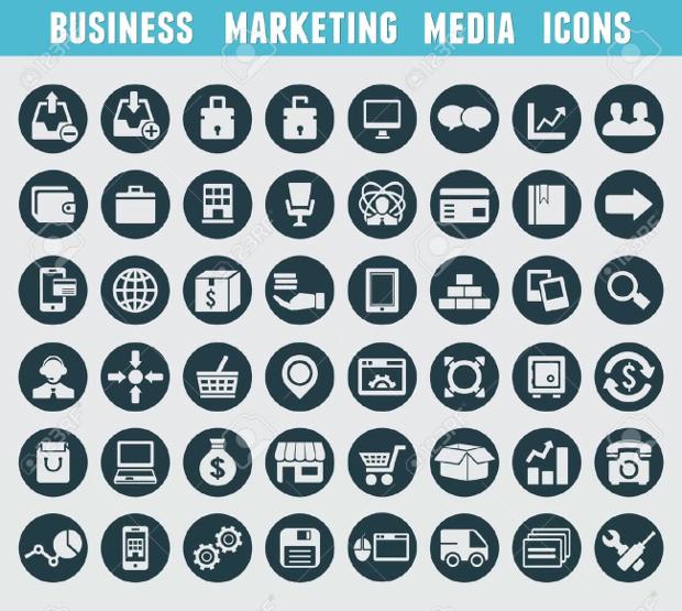 business marketing media icons