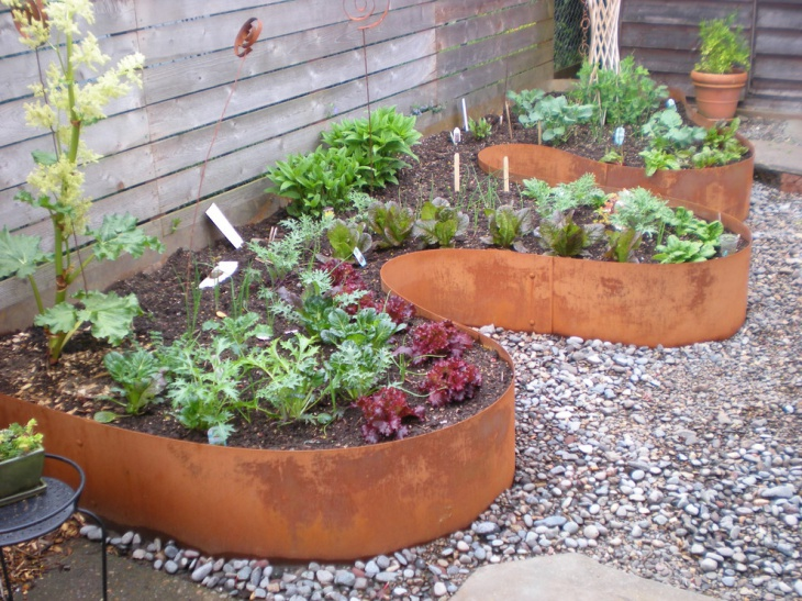 Wooden Garden Edging Idea
