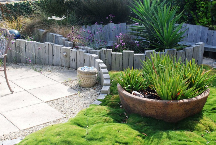 Timber Garden Edging Idea