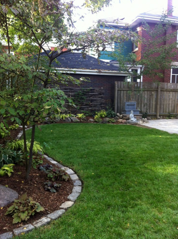 Backyard Garden Edging Idea