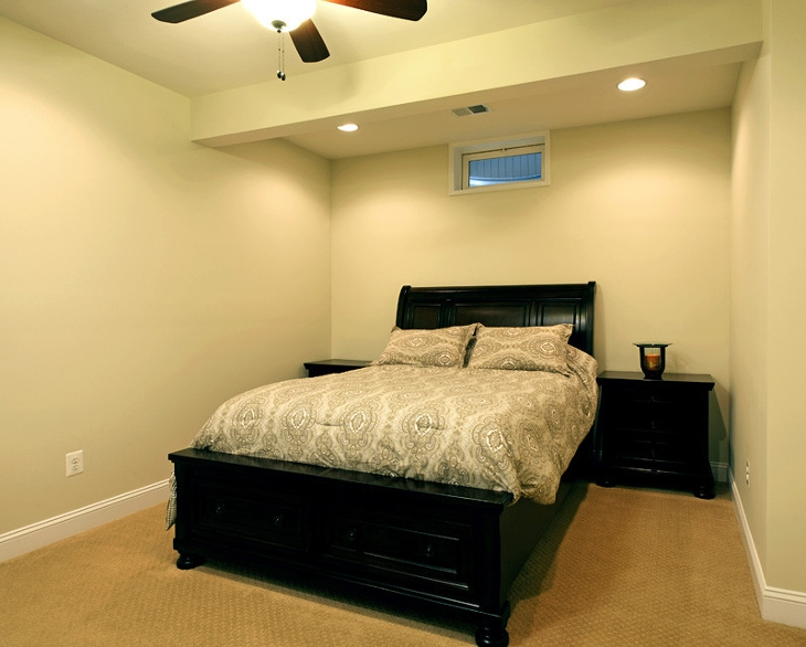 small basement bedroom idea