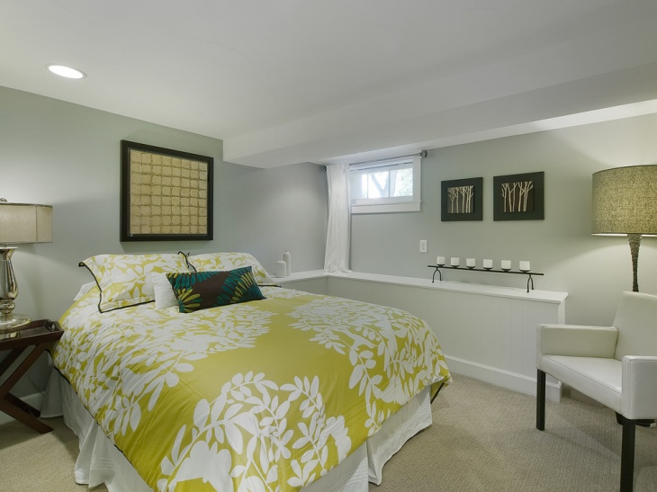 decorative basement bedroom design