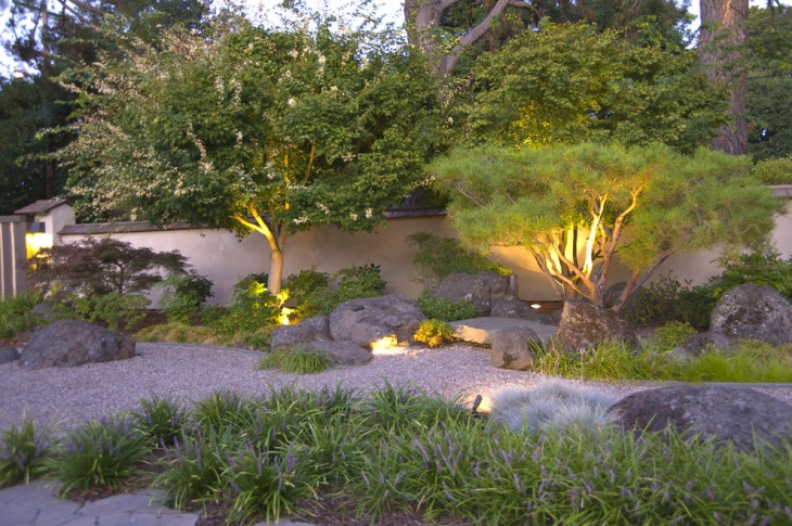 zen garden lighting