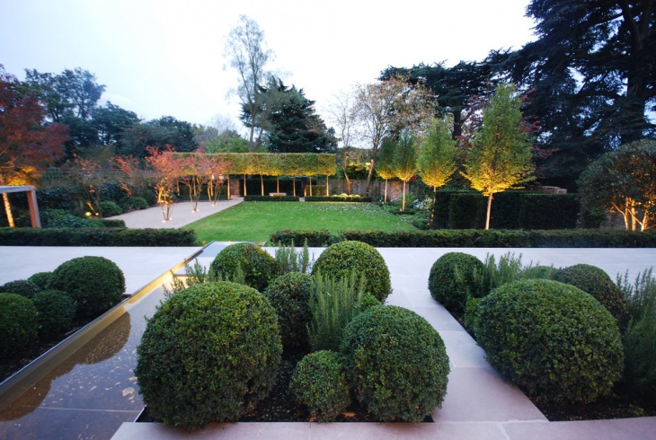 Formal Garden Lighting Design