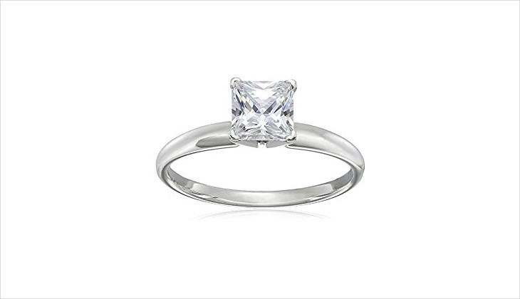 princess cut solitaire ring design