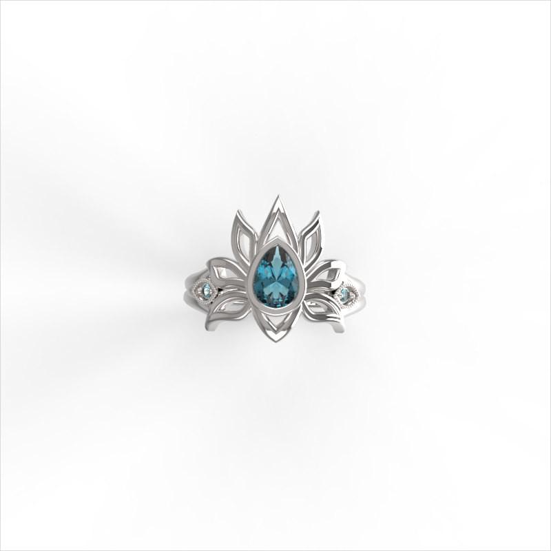 lotus flower ring design