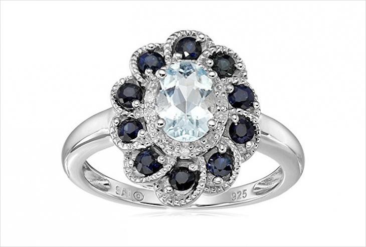 flower shaped ring design
