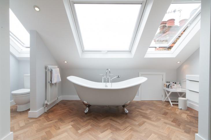 attic skylight bathroom