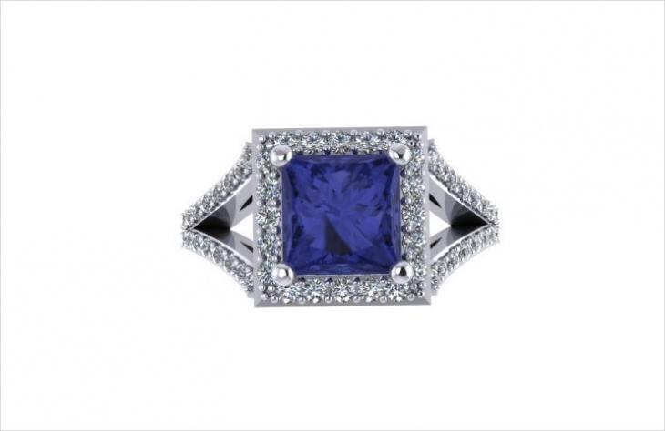 princess cut diamond ring design