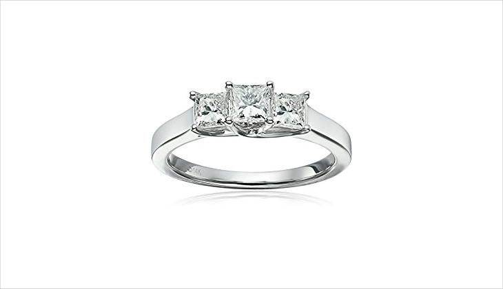 three diamond ring design