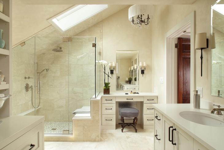 traditional bathroom skylight design
