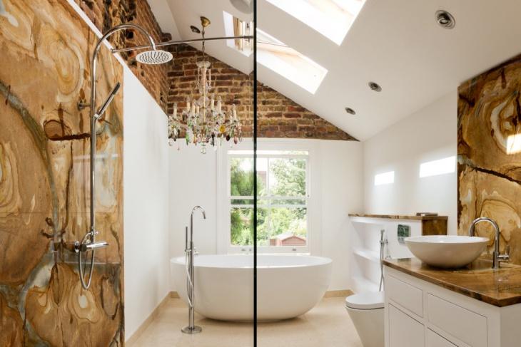contemporary bathroom skylight design idea
