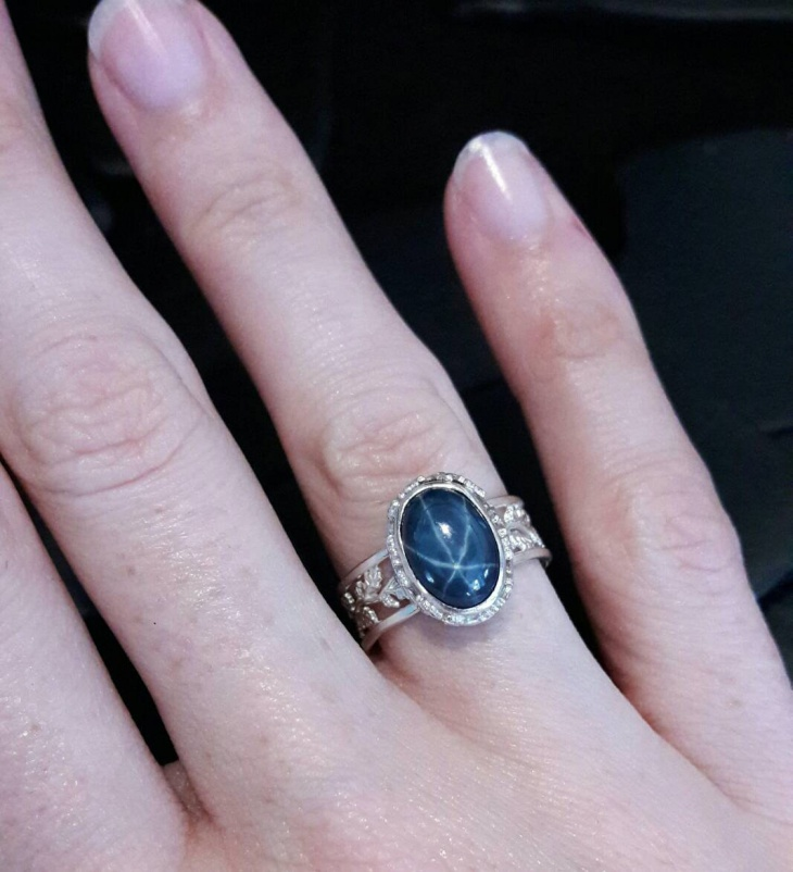star sapphire ring design
