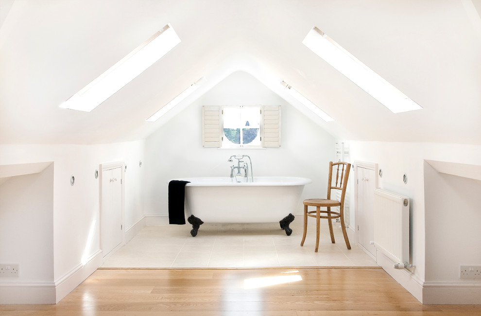 guest bathroom skylight design
