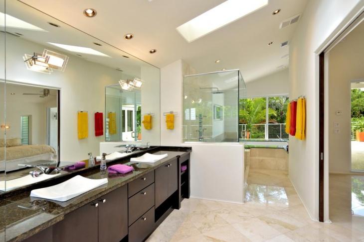 luxury skylight bathroom design