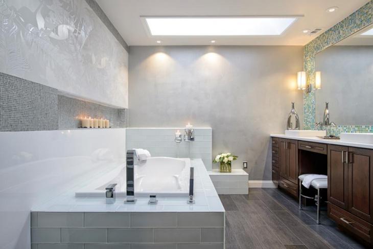 modern bathroom skylight idea