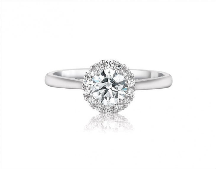 solitaire halo ring design