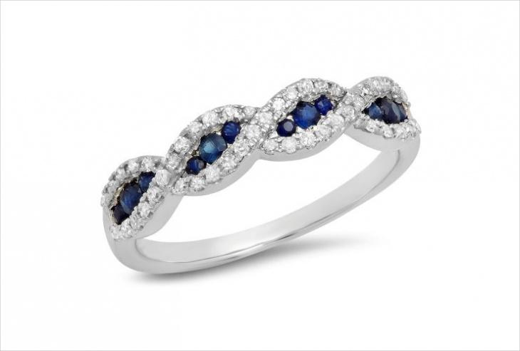 swirl band ring design