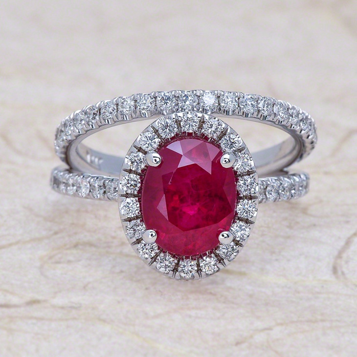 oval ruby ring design