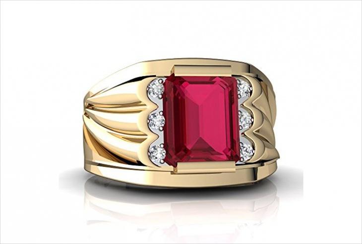mens ruby ring design