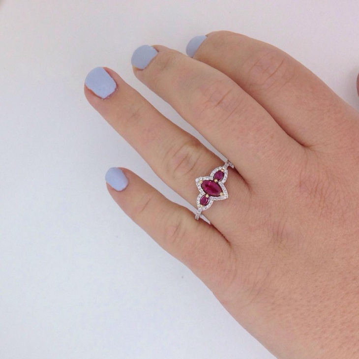 ruby Engagement ring design