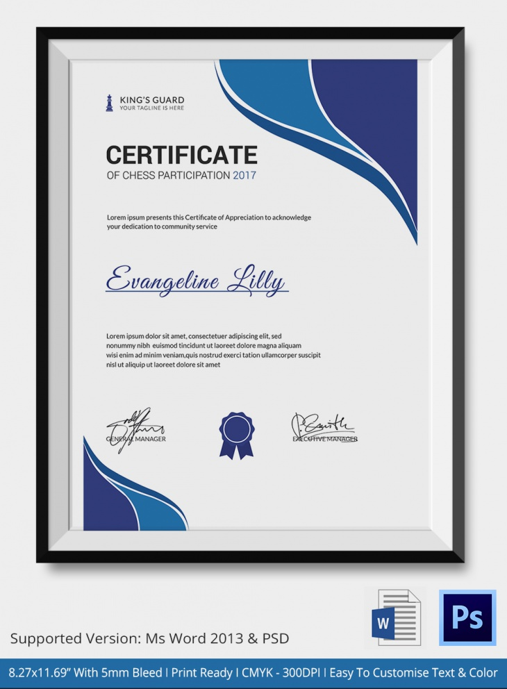 5 chess certificates psd word designs design trends chess certificate of appreciation yadclub Images