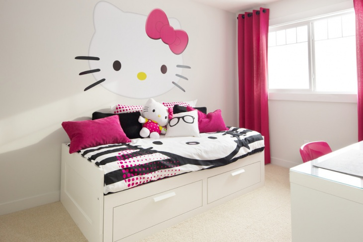 13+ Hello Kitty Bedroom Designs, Ideas