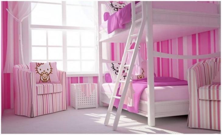 Hello Kitty Bunk Bedroom