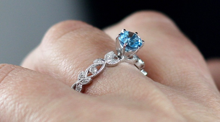 blue topaz eternity ring