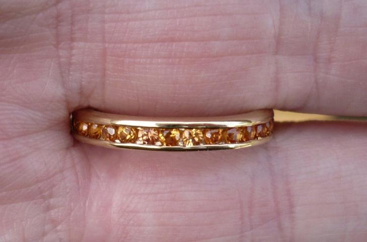 citrine eternity ring model