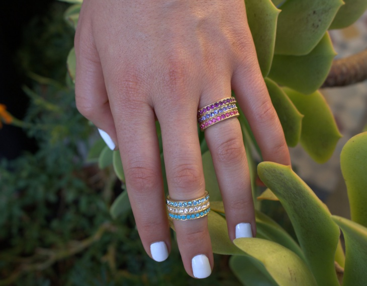 birth stone eternity ring