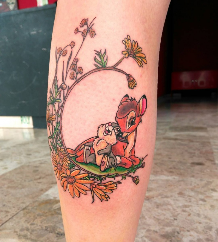 awesome bambi disney tattoo