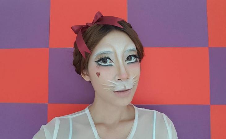 white rabbit makeup design