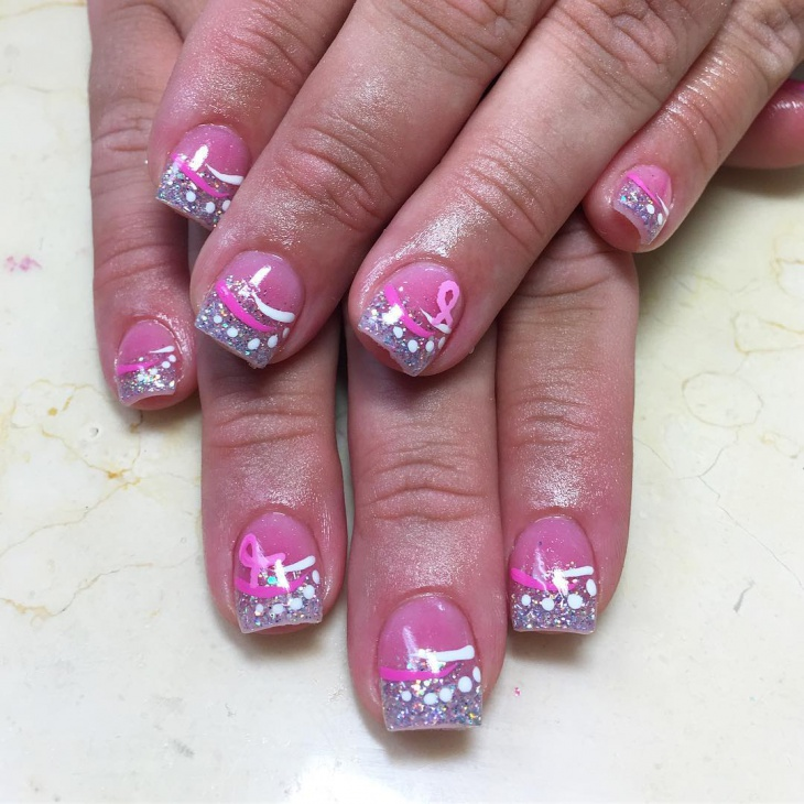 short french tip acrylic nail design