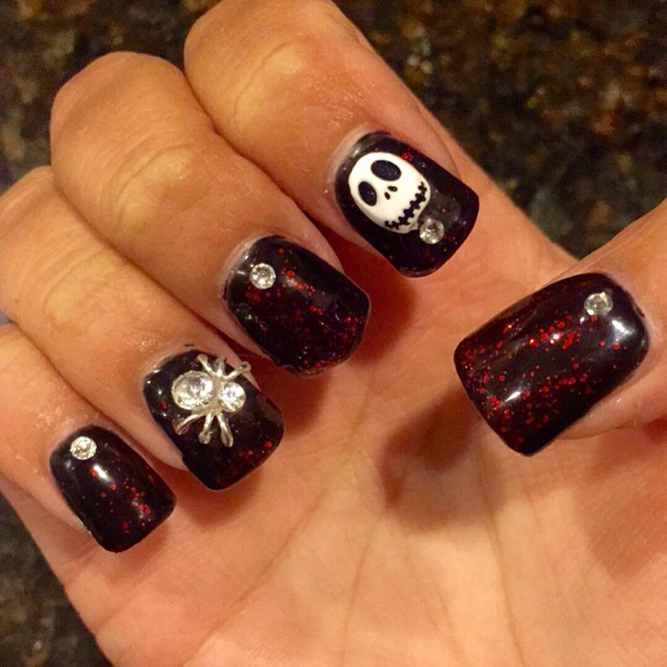 60 acrylic nail art designs ideas design trends premium psd 3d halloween acrylic nail design prinsesfo Image collections