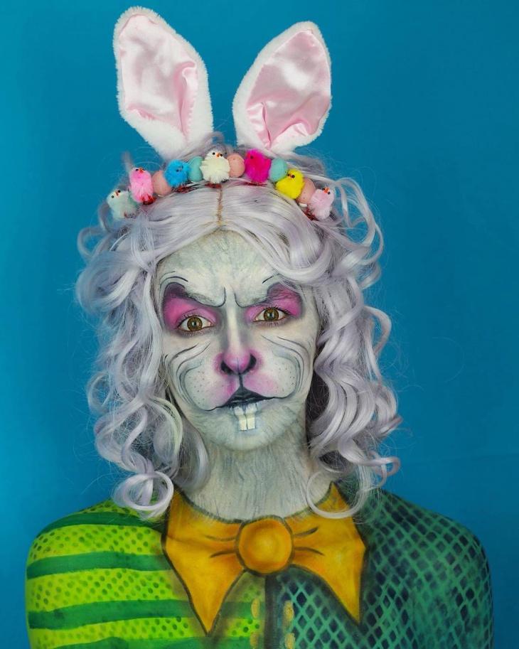 Halloween Rabbit Face Makeup