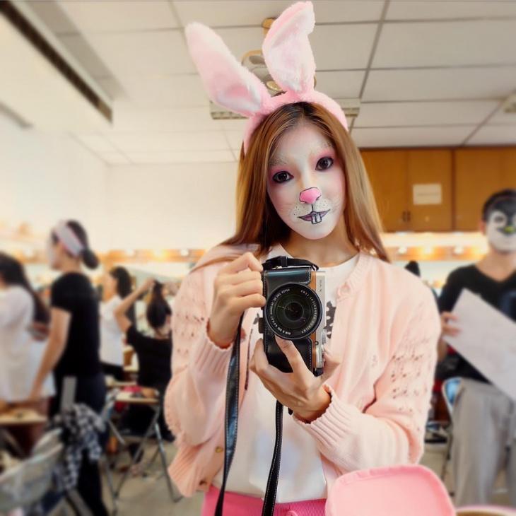 cute realistic rabbit makeup
