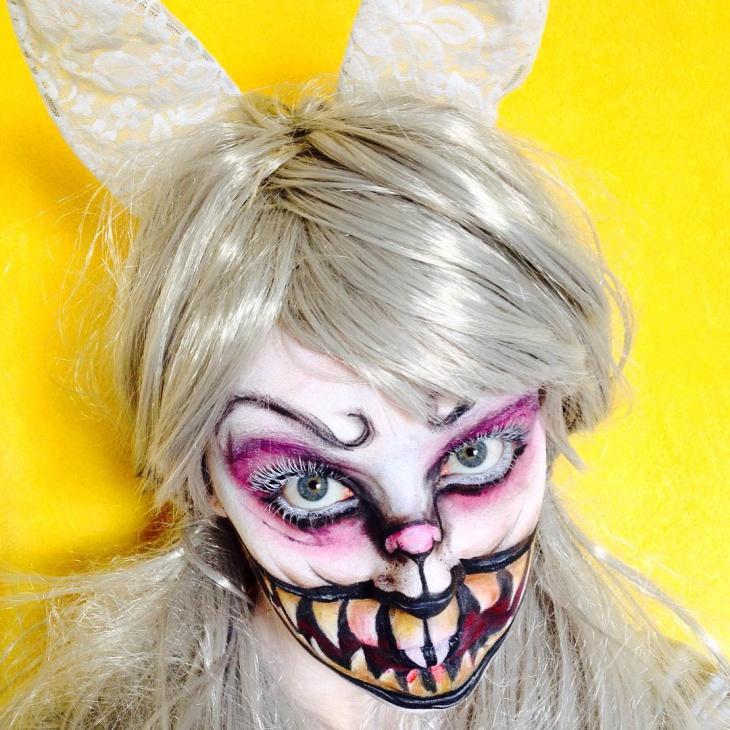 evil rabbit makeup design