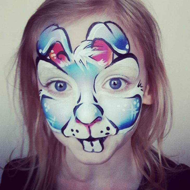Kids Bunny Makeup Idea