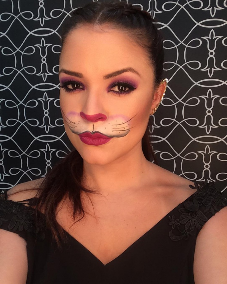 Purple Rabbit Makeup Idea