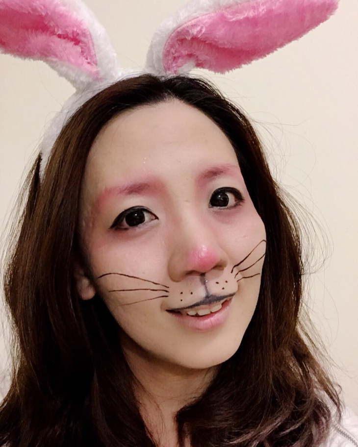 Simple Rabbit Animal Makeup Design