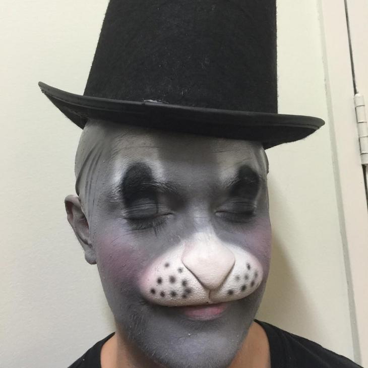 creative bunny makeup