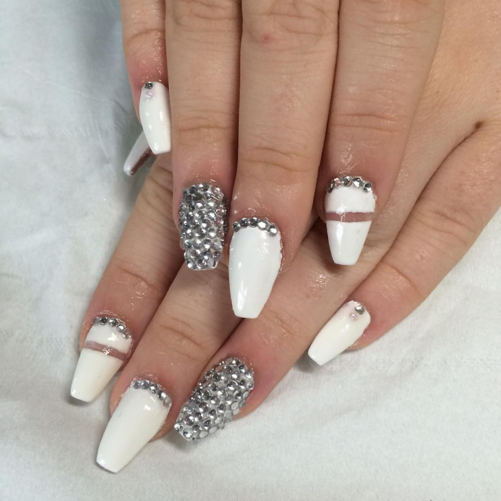Elegant Silver Nails For Prom: 60+ Acrylic Nail Art Designs, Ideas
