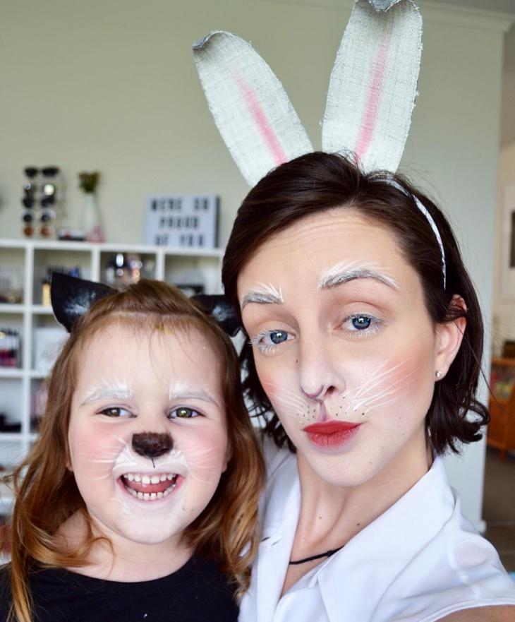 rabbit costume makeup design