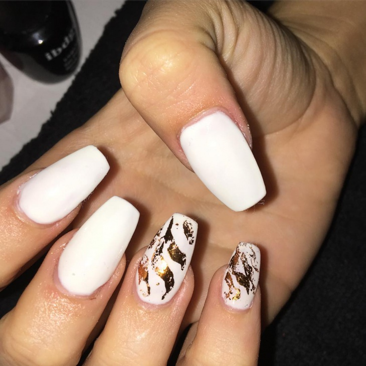 long white acrylic nail design
